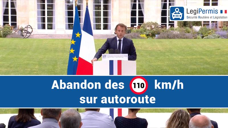 E.Macron abandonne les 110km/h sur autoroute