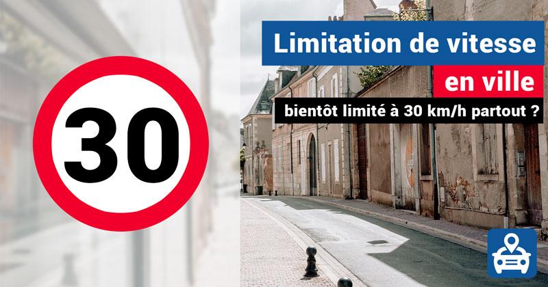 limitation de vitesse à 30 km/h en ville en France