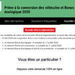 Prime à la conversion bloquée jusqu'au 31 juillet 2020