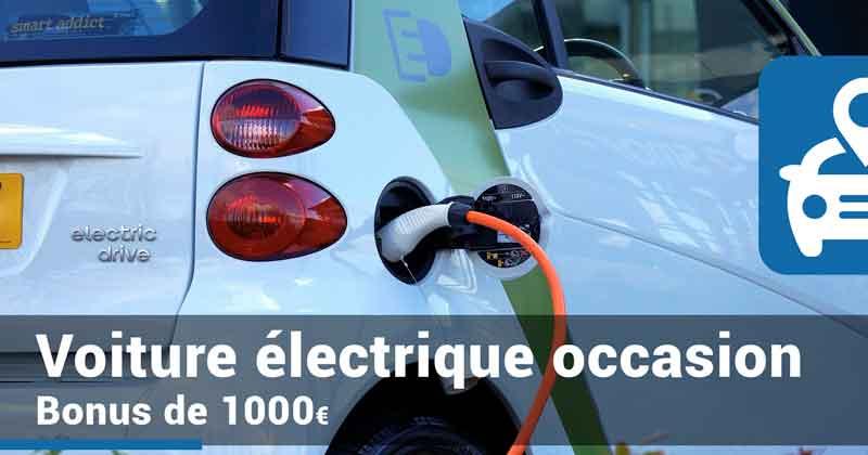 Bonus de 1000€ pour les voitures électriques d'occasion