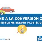 Plus de prime à la conversion diesel à partir du 1er juillet 2021