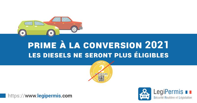 prime à la conversion 2021 : les diesels non éligibles