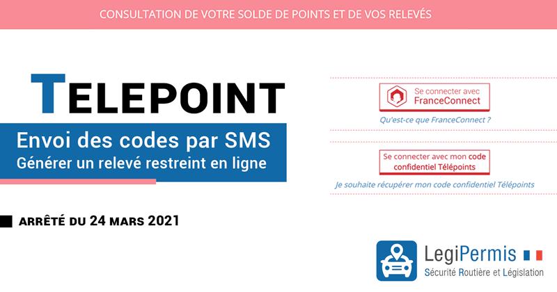 Obtenir ses codes télépoints par SMS