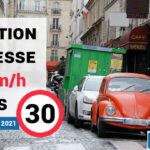 Vitesse à 30km/h à Paris : la liste des rues à 50 km/h