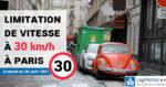 Limitation de vitesse à 30 km/h à Paris à partir de la rentrée de septembre 2021