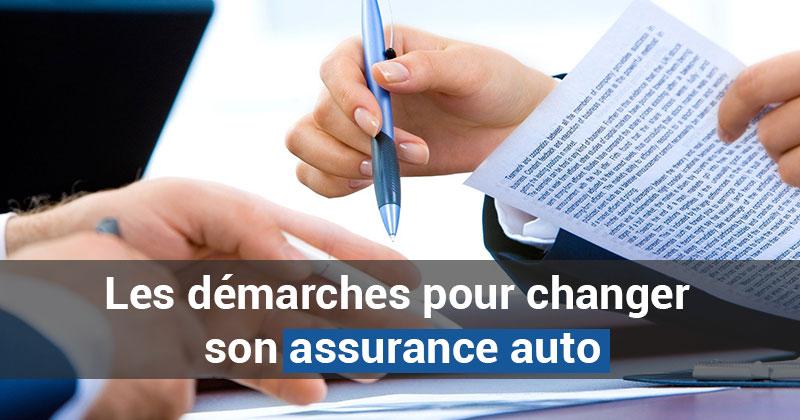 Les démarches pour changer son assurance auto
