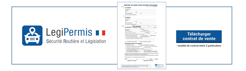 Contrat De Vente Voiture Ou Certificat De Cession Legipermis