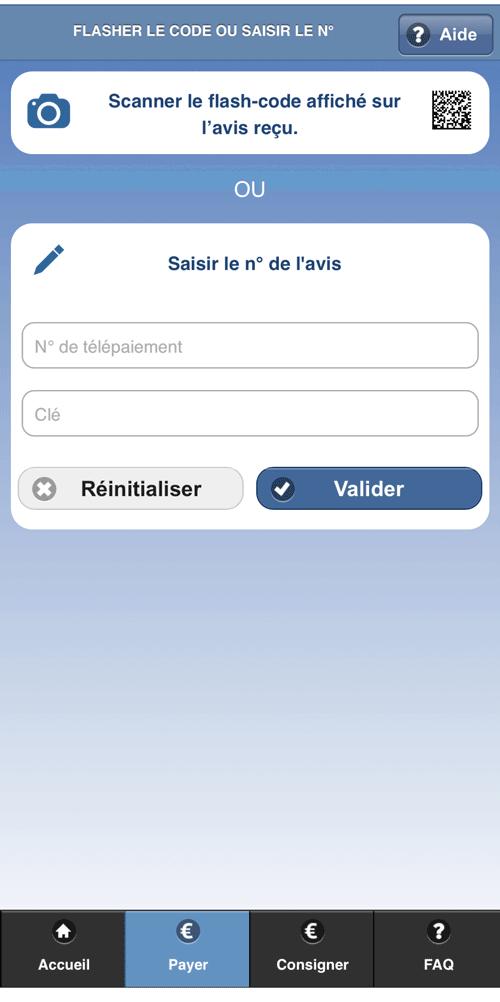 Application smartphone pour payer son amende en ligne