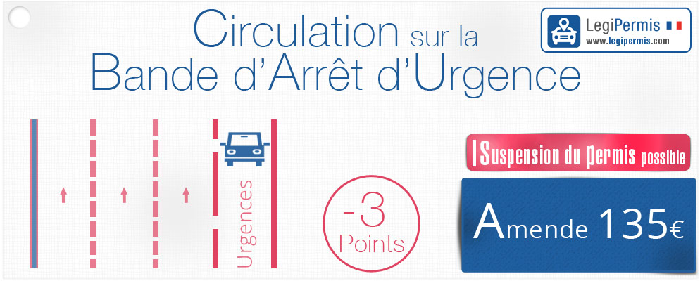 circulation arret urgence amende et perte de points