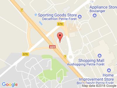 Plan Google Stage recuperation de points à Petite-Forêt proche de Valenciennes