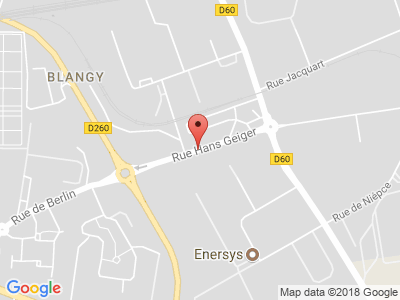 Plan Google Stage recuperation de points à Arras proche de Saint-Laurent-Blangy