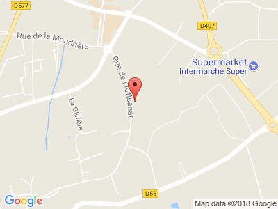 Plan Google Stage recuperation de points à Vire proche de Flers