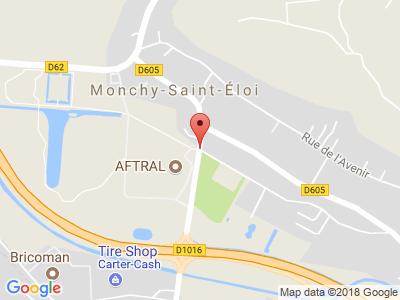 Plan Google Stage recuperation de points à Monchy-Saint-Éloi proche de Beauvais