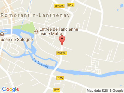 Plan Google Stage recuperation de points à Romorantin-Lanthenay proche de Vierzon