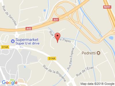 Plan Google Stage recuperation de points à La Motte-Servolex proche de Aix-les-Bains
