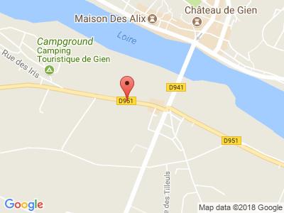 Plan Google Stage recuperation de points à Gien proche de Quimperlé