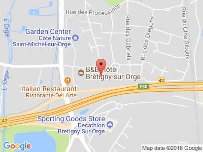 Plan Google Stage recuperation de points à Brétigny-sur-Orge proche de Étampes