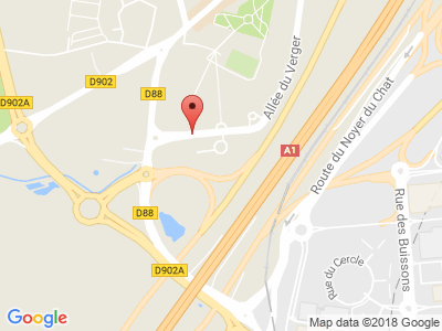 Plan Google Stage recuperation de points à Roissy-en-France proche de Juilly