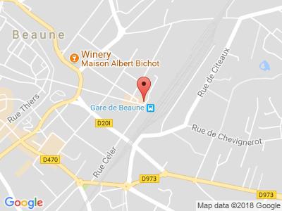 Plan Google Stage recuperation de points à Beaune proche de Autun