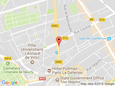 Plan Google Stage recuperation de points à Courbevoie proche de Levallois-Perret