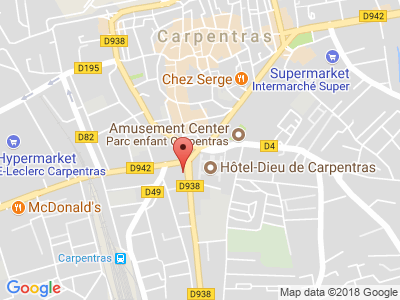 Plan Google Stage recuperation de points à Carpentras proche de Orange