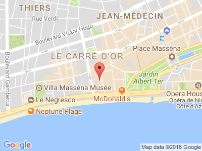 Plan Google Stage recuperation de points à Nice proche de Saint-Laurent-du-Var