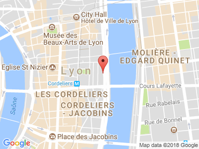 Plan Google Stage recuperation de points à Lyon proche de Vénissieux