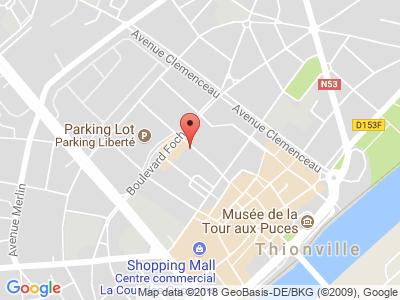 Plan Google Stage recuperation de points à Thionville proche de Amnéville