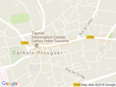 Plan Google Stage recuperation de points à Carhaix-Plouguer proche de Morlaix