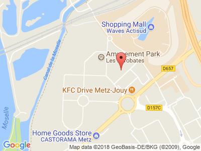 Plan Google Stage recuperation de points à Jouy-aux-Arches proche de Metz
