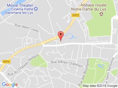 Plan Google Stage recuperation de points à Dammarie-les-Lys proche de Melun