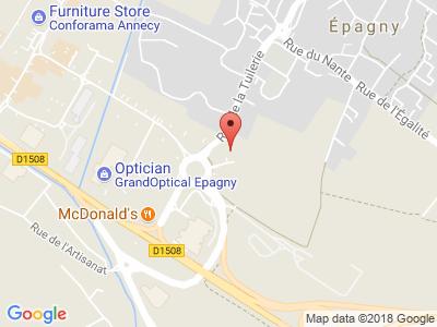 Plan Google Stage recuperation de points à Épagny proche de Annecy-le-Vieux
