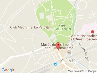 Plan Google Stage recuperation de points à Vittel proche de Neufchâteau