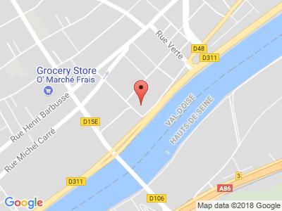 Plan Google Stage recuperation de points à Argenteuil proche de Franconville