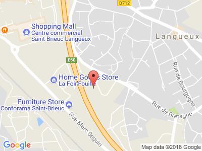 Plan Google Stage recuperation de points à Trégueux proche de Pontivy