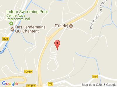 Plan Google Stage recuperation de points à Tulle proche de Brive-la-Gaillarde
