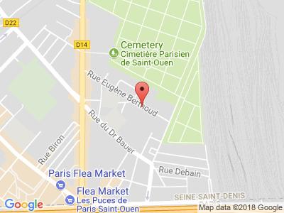 Plan Google Stage recuperation de points à Saint-Ouen proche de Clichy