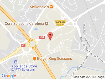 Plan Google Stage recuperation de points à Soissons proche de Laon