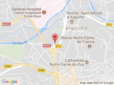 Plan Google Stage recuperation de points à Le Puy-en-Velay