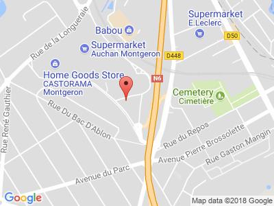 Plan Google Stage recuperation de points à Montgeron proche de Villeneuve-le-Roi