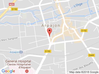 Plan Google Stage recuperation de points à Arpajon proche de Brétigny-sur-Orge
