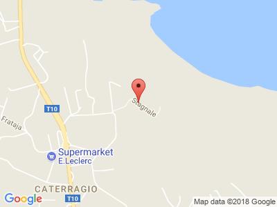 Plan Google Stage recuperation de points à Aléria proche de Prunelli-di-Fiumorbo