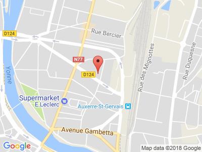 Plan Google Stage recuperation de points à Auxerre proche de Monéteau