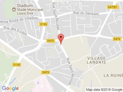 Plan Google Stage recuperation de points à Granville proche de Aigle
