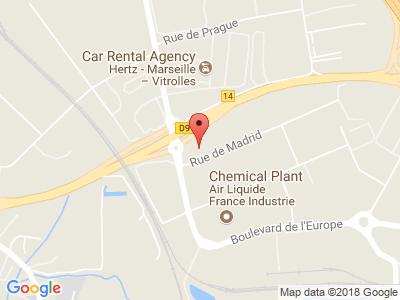 Plan Google Stage recuperation de points à Vitrolles proche de Marignane