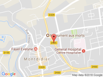 Plan Google Stage recuperation de points à Montdidier proche de Roye
