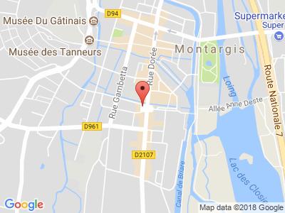 Plan Google Stage recuperation de points à Montargis proche de Quimperlé