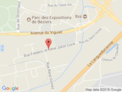 Plan Google Stage recuperation de points à Villeneuve-lès-Béziers proche de Agde