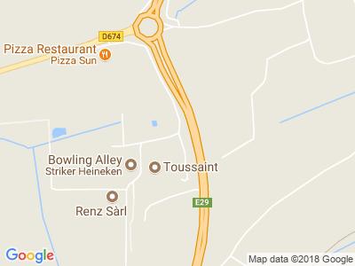 Plan Google Stage recuperation de points à Woustviller proche de Forbach
