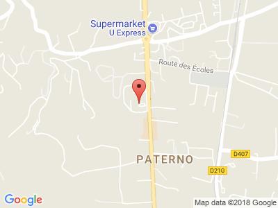Plan Google Stage recuperation de points à Borgo proche de Omessa